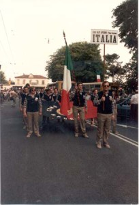 Coro Alpi Apuane nella sfilata di Clusone