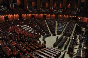 Il coro in Parlamento